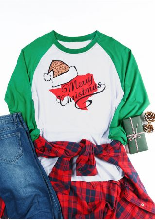 Plus Size Merry Christmas Santa Hat Baseball T-Shirt