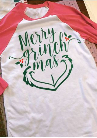 Christmas Merry Grinchmas Baseball T-Shirt