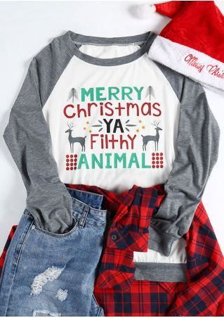 Merry Christmas Ya Filthy Animal Baseball T-Shirt