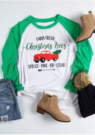 Plus Size Farm Fresh Christmas Trees Baseball T-Shirt