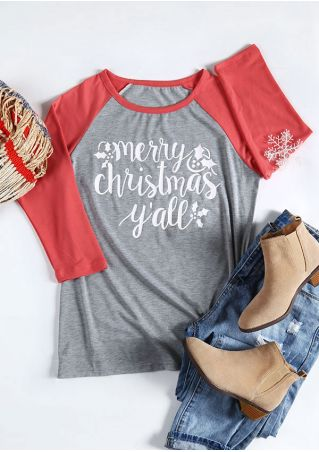 Merry Christmas Y'all O-Neck Baseball T-Shirt