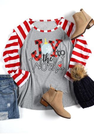 Christmas Joy To The World Baseball T-Shirt