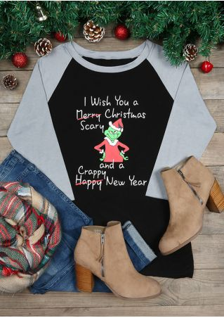 I Wish You A Scary Christmas Baseball T-Shirt