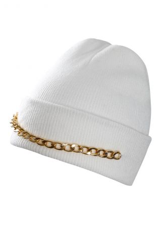 Chain Splicing Warm Knitted Hat