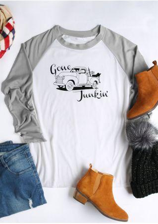 Gone Junkin' Car  Baseball T-Shirt