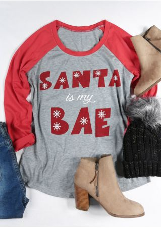 Christmas Santa Is My Bae Baseball T-Shirt