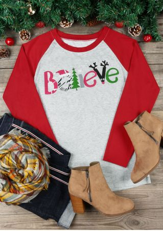 Christmas Believe O-Neck Baseball T-Shirt