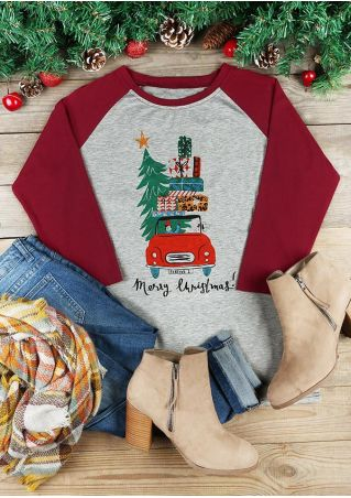 Merry Christmas O-Neck Baseball T-Shirt