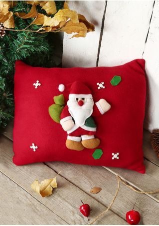 Christmas Santa Claus Snowflake Pillow