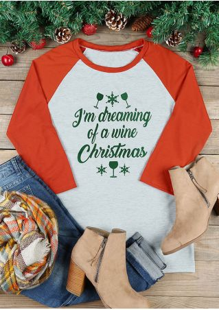 I'm Dreaming Of A White Christmas Baseball T-Shirt
