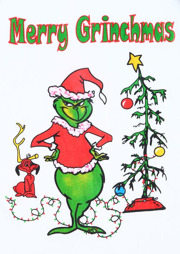 Christmas Merry Grinchmas Tree O-Neck Baseball T-Shirt ...