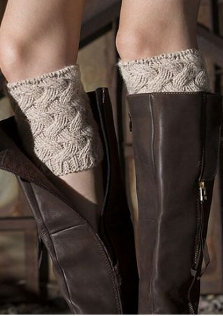Solid Knitted Boot Cuffs