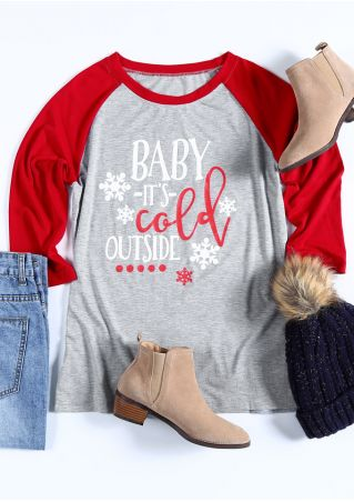 Christmas Baby It's Cold Outside Baseball T-Shirt