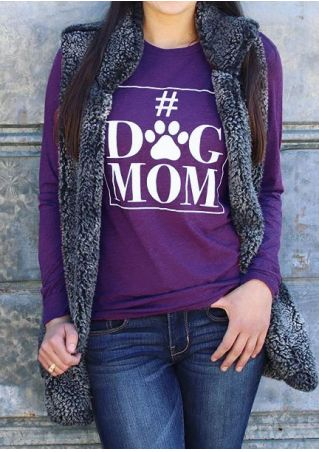 Dog Mom O-Neck Long Sleeve T-Shirt