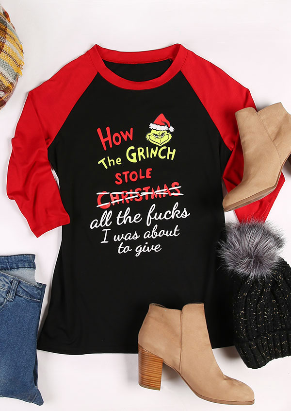 How The Grinch Stole Christmas Baseball T Shirt Bellelily