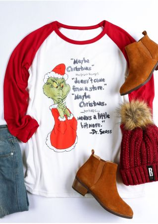 Maybe Christmas Grinch Baseball T-Shirt