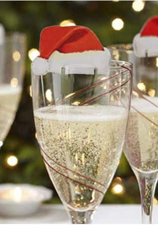10Pcs/Pack Christmas Wine Cup Card Ornament