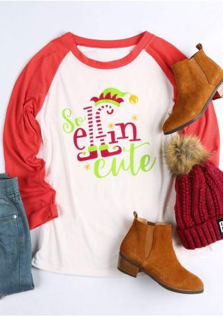 Christmas So Elfin Cute Baseball T-Shirt