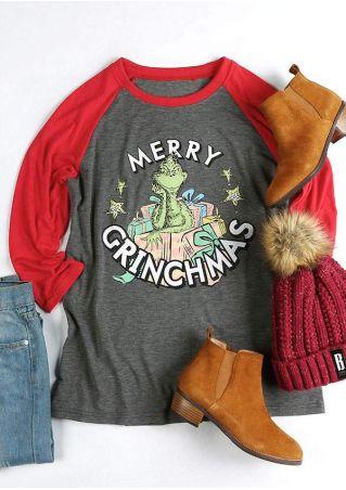 Christmas Merry Grinchmas O-Neck Baseball T-Shirt