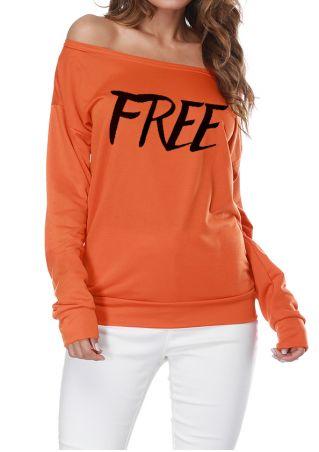 Free Off Shoulder Multi-Way Sweatshirt