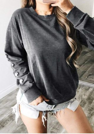 Printed Long Sleeve Sweatshirt without Necklace