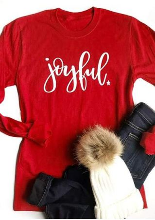 Joyful Star O-Neck Long Sleeve T-Shirt