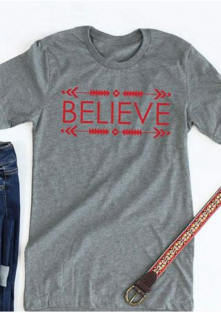 Believe Arrow Short Sleeve T-Shirt