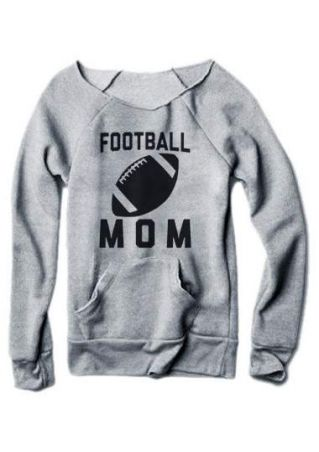 Football Mom Long Sleeve Sweatshirt