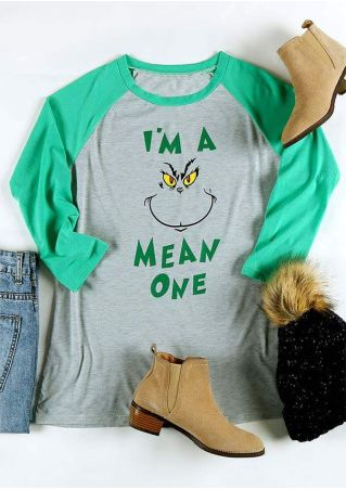 Christmas I'm A Mean One Baseball T-Shirt
