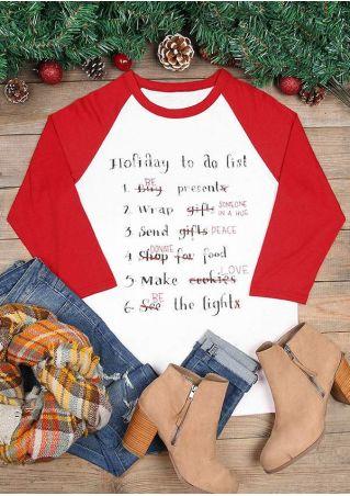 Holiday To Do List Baseball T-Shirt