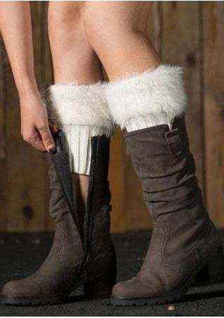 Solid Fur Warm Knitted Boot Cuffs
