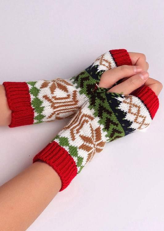 Snowflake Fingerless Gloves 172123