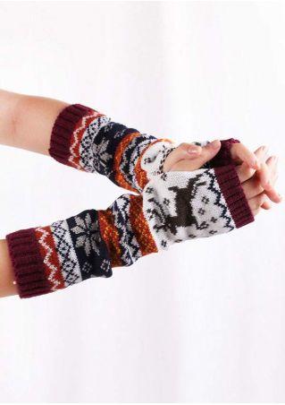 Reindeer Fingerless Gloves