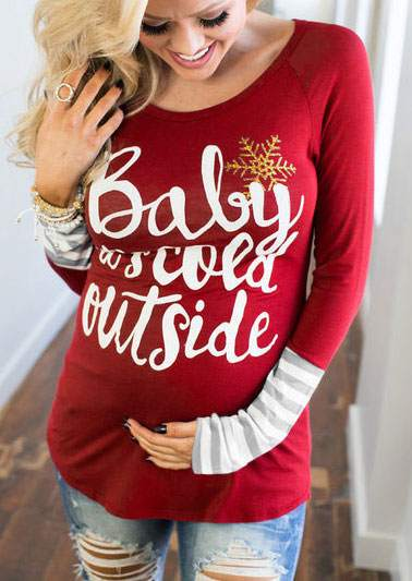 Baby It's Cold Outside Maternity T-Shirt 172318