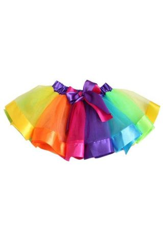 Girls Bowknot Mesh Princess Skirt