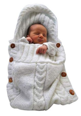 Baby Knitted Crochet Swaddling Blanket Sleeping Bag