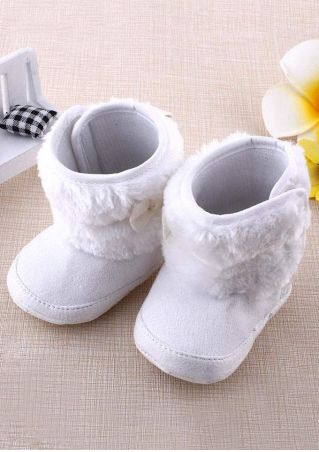 Baby Bowknot Anti-Slip Prewalker Snow Boots