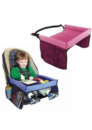 Kids Waterproof Tray Table Safety Belt Car Seat