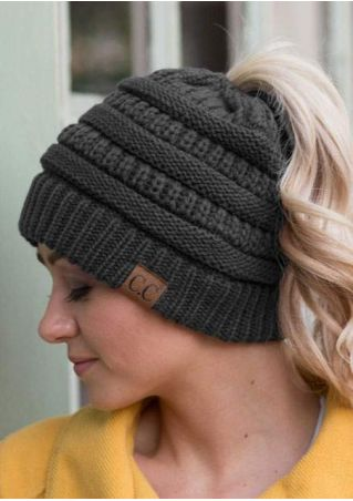 Letter Knitted Casual Hat