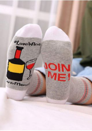 Love Wine Earn Money Socks