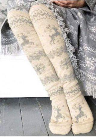 Christmas Reindeer Soft Socks