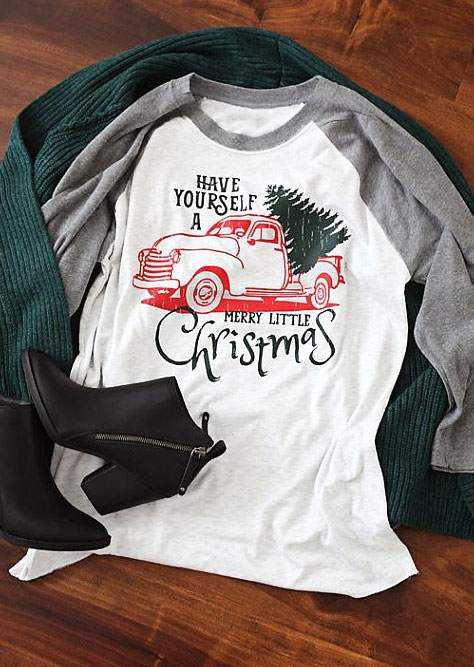 have yourself a merry little christmas baseball t shirt zoom