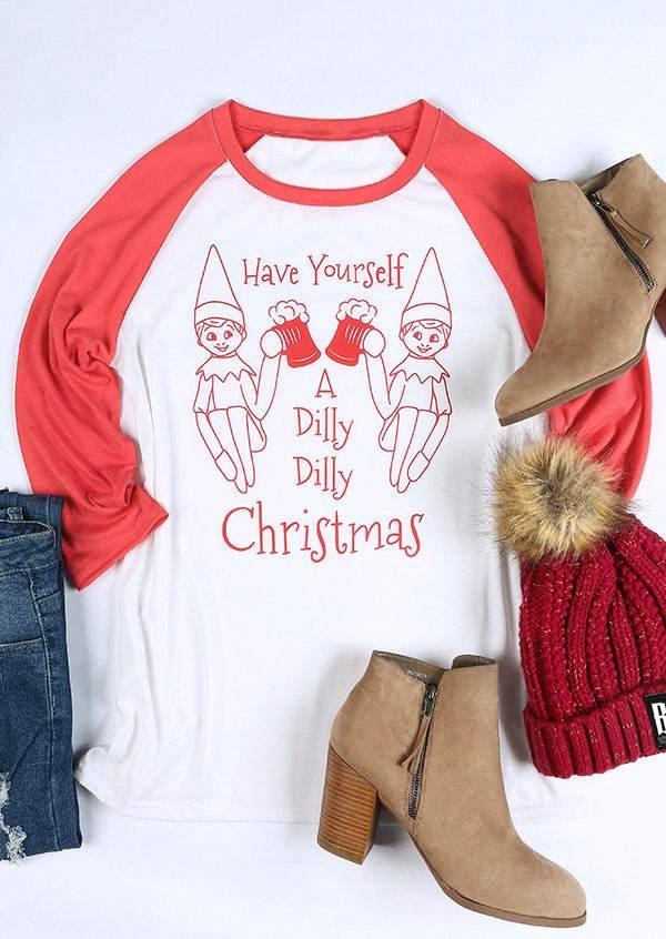 dilly christmas baseball t shirt zoom