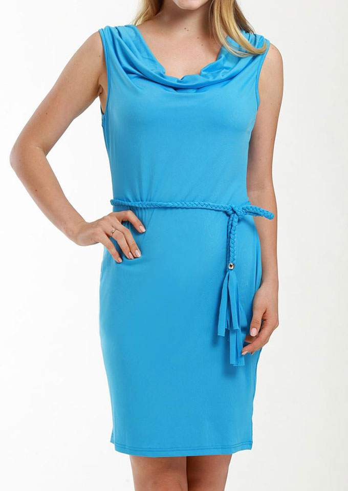 Solid Sleeveless Bodycon Dress