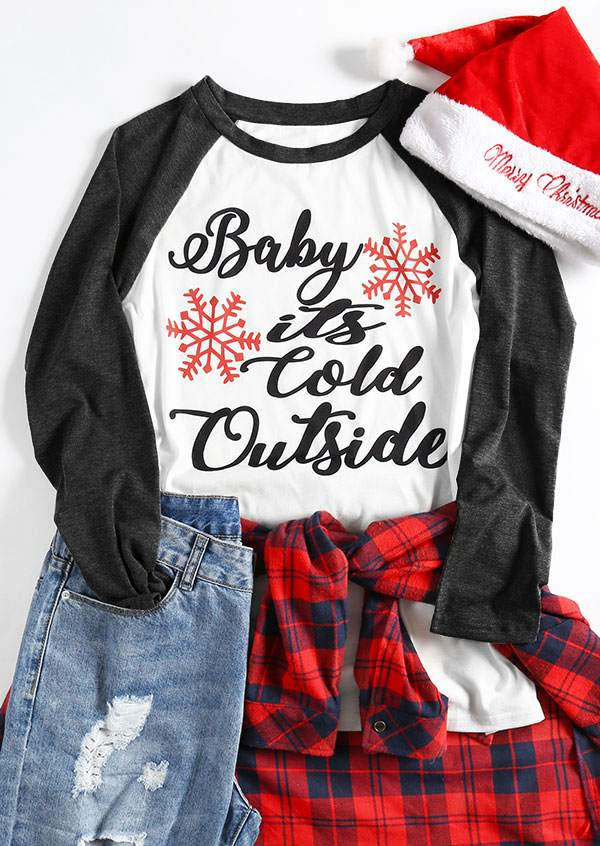 Plus Size Baby It S Cold Outside Baseball T Shirt Bellelily
