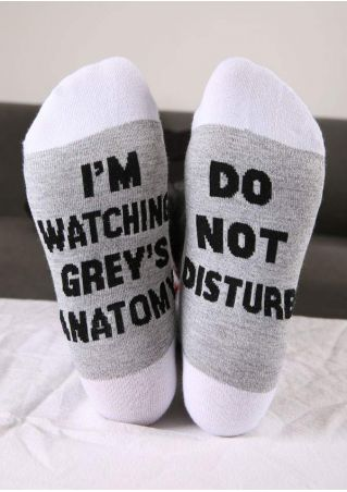 I'm Watching Grey's Anatomy Socks