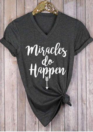 Miracles Do Happen Arrow T-Shirt