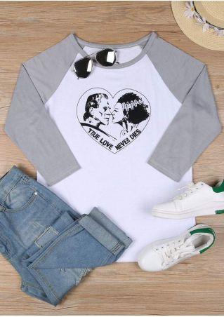 True Love Never Dies Baseball T-Shirt