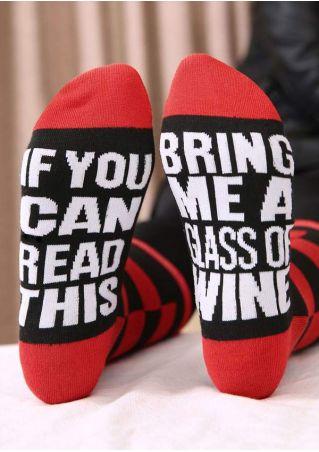 Bring Me A Glass Of Wine Socks