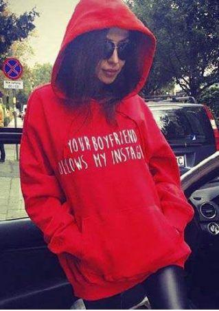 Your Boyfriend Follows My Instagram Hoodie